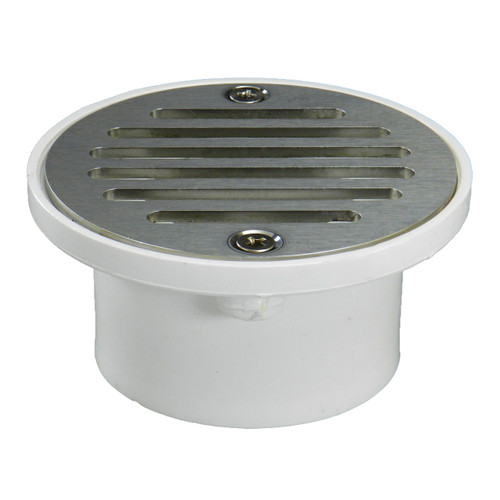 """2""""x3"""" Pipe Fit General Purpose Drain with Nickel Strainer"""