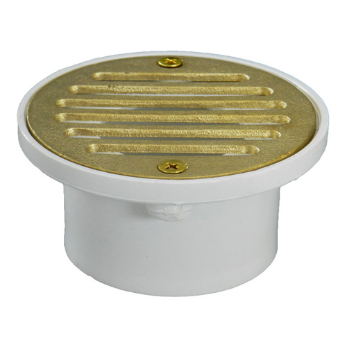 """2""""x3"""" Pipe Fit General Purpose Drain with Cast Brass Finish Strainer"""