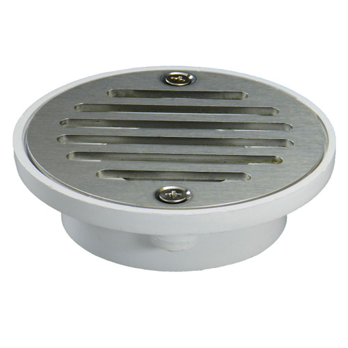 """2""""x3"""" Pipe Fit General Purpose Drain - Short Version with Nickel Strainer"""