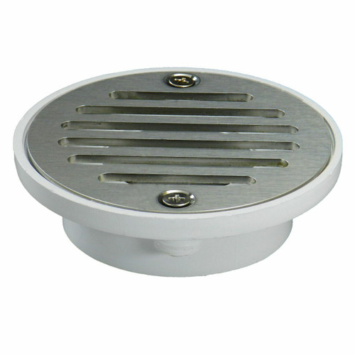 """2""""x3"""" Pipe Fit General Purpose Drain - Short Version with Square Ring with Nickel Strainer"""