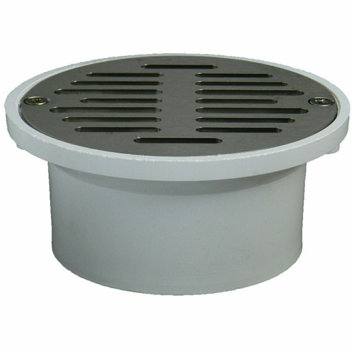 """3""""x4"""" Pipe Fit General Purpose Drain with Stamped Stainless Steel Strainer"""