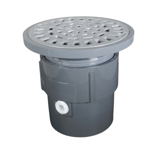 """3""""x4"""" Pipe Fit Adjustable General Purpose Drain with Plastic Sundial Strainer"""