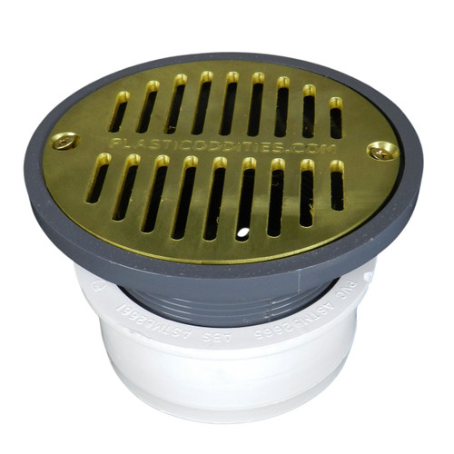 """4"""" Inside Hub Fit Adjustable General Purpose Drain with Cast Brass Finish  Strainer"""