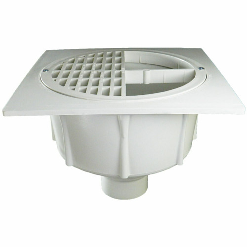 """2"""" Floor Sink with Secondary Strainer with Half Plastic Grate"""