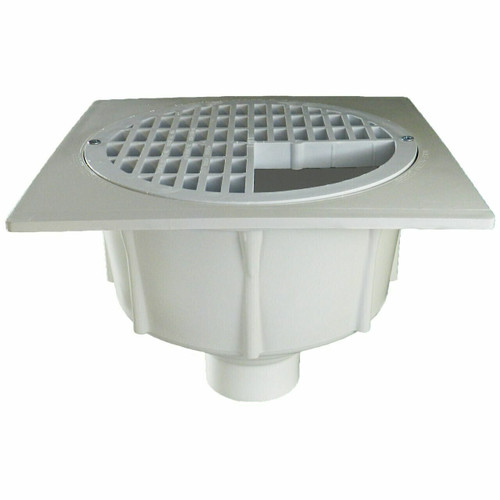 """2"""" Floor Sink with Secondary Strainer with Three-Quarter Plastic Grate"""