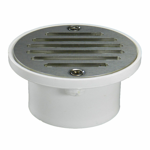 """2""""x3"""" Pipe Fit General Purpose Drain with Round Ring with Nickel Strainer"""