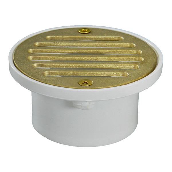 """2""""x3"""" Pipe Fit General Purpose Drain with Stamped Polished Brass Strainer"""