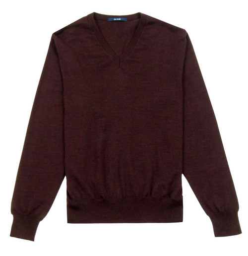 PAL ZILERI Burgundy V Neck Knit