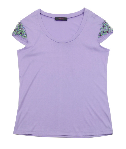 LALTRAMODA Lilac Silk Blend Top