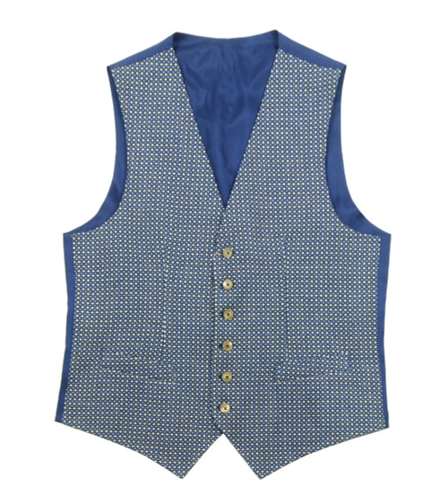 PAOLONI Blue Single Breasted Vest
