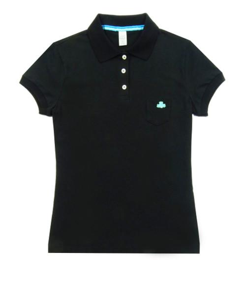 REPLAY Ladies Black Polo Shirt