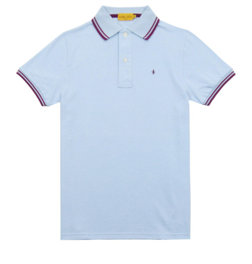 ROMEO GIGLI Light Blue Men's Polo Shirt