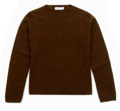 GIANMARCO VENTURI Brown Cashmere Blend Ladies Knit