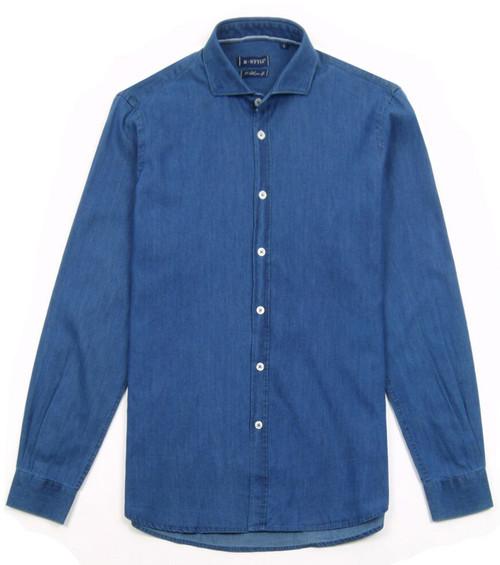 B STYLE Men's Denim Shirt