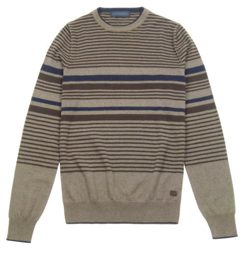 TRUSSARDI JEANS Striped Crew Neck Knit