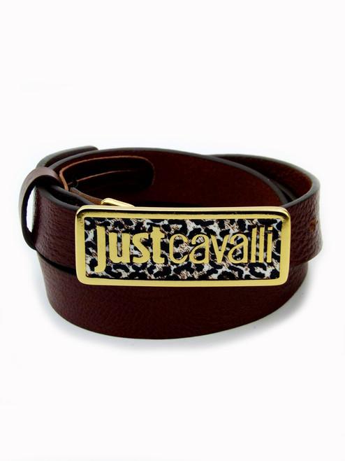JUST CAVALLI Slim Leather Belt