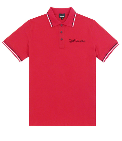 JUST CAVALLI Red Polo Shirt