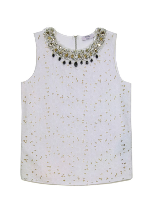 MAX MARA Hand Embroidered Top