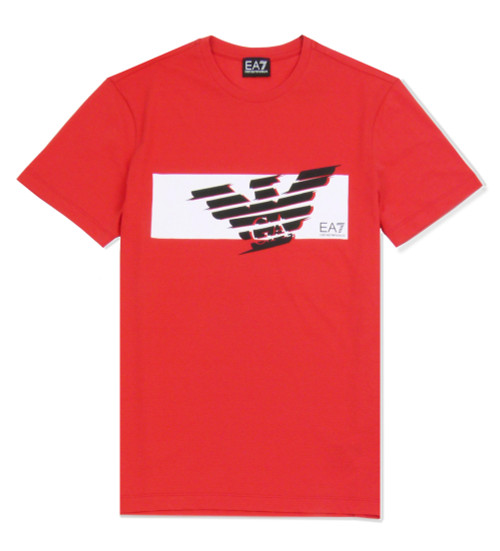 EMPORIO ARMANI Logo Red T-Shirt