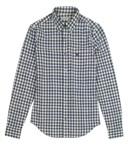 BURBERRY Casual Checked Shirt (Grey)