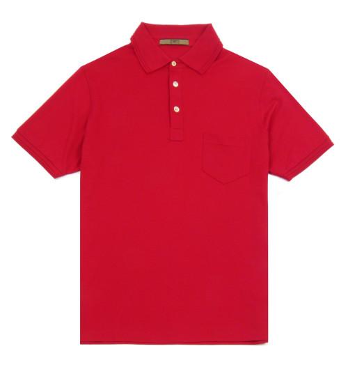 UNGARO Cotton Polo Shirt (Red)