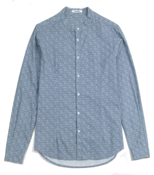 OFFICINA 36 Round Collar Cotton Shirt