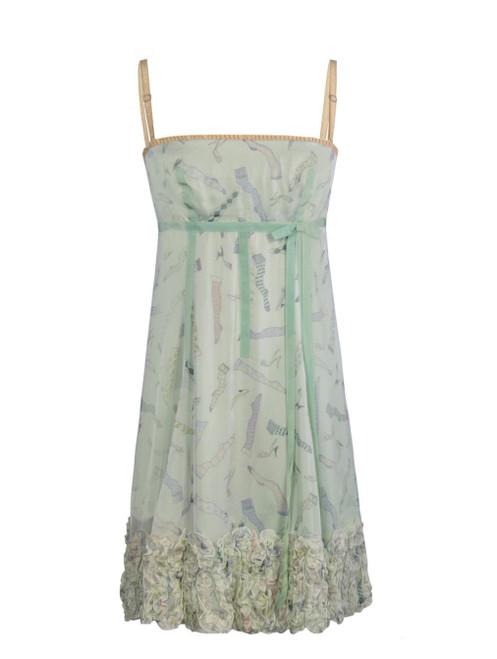 DOLCE & GABBANA Mint Coloured Silk Dress