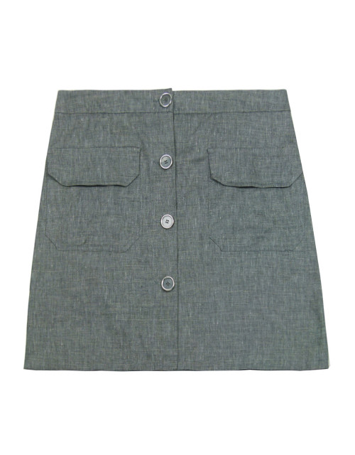 LALTRAMODA Linen Skirt