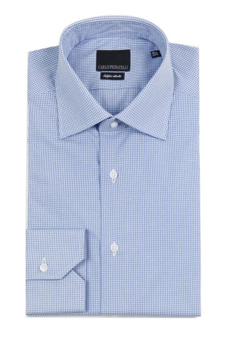 CARLO PIGNATELLI Check Patterned Dress Shirt