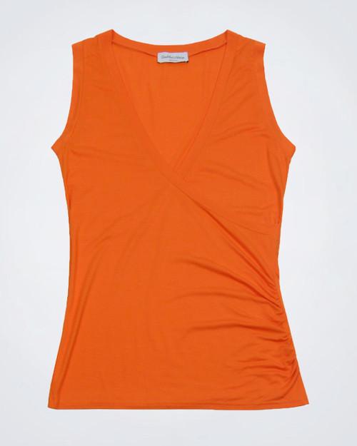 GIANMARCO VENTURI Orange Sleeveless Top