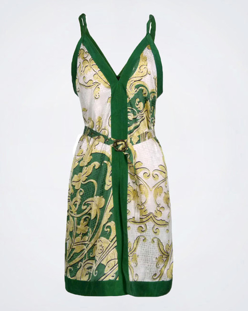 JUST CAVALLI Shirt Style Silk Dress