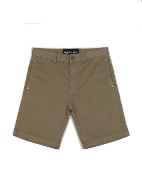 REPLAY Men's Khaki Shorts