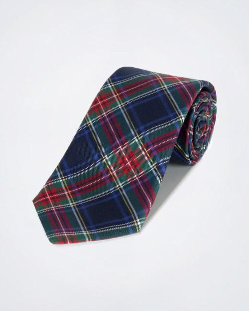 MOSCHINO Tartan Pattern Silk Tie