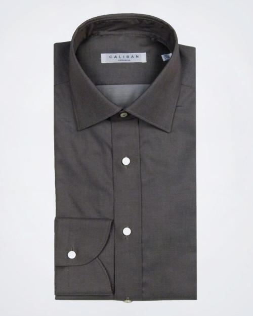 CALIBAN Slim Fit Taupe Shirt