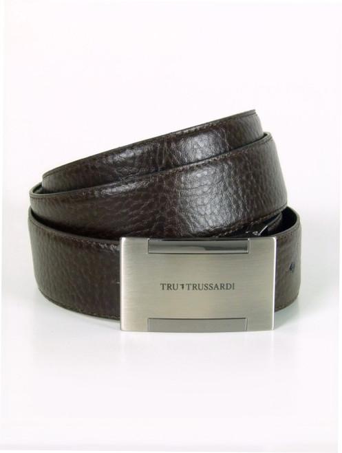 TRUSSARDI  Flat Buckle  Leather Belt (105)