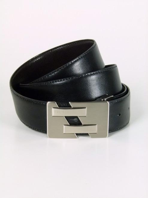 TRUSSARDI  Flat Buckle  Leather Belt (108)
