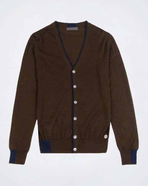 MANUEL RITZ Wool Blend Men's Cardigan