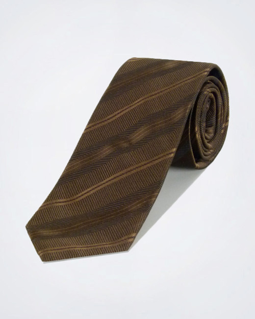 PAL ZILERI Copper Coloured Silk Tie