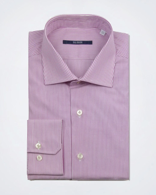 PAL ZILERI Pink Striped Shirt