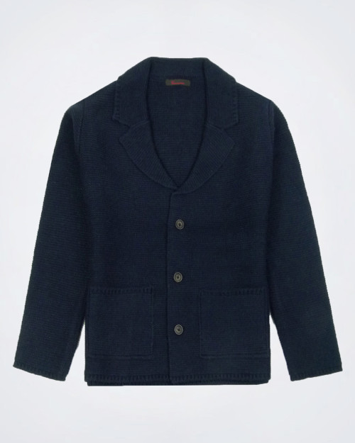 CAMICISSIMA Men's Wool Blend Knitted Jacket