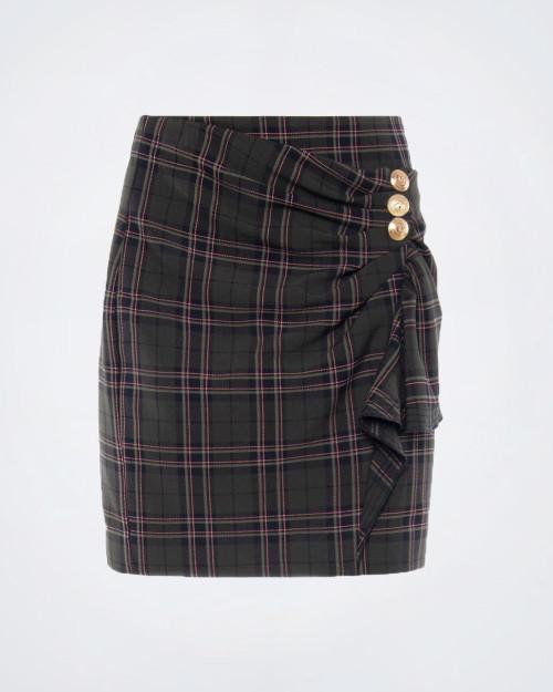 NENETTE Tartan Pattern Skirt