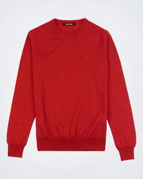 ROBERTO CAVALLI Pure Wool Burnt Orange Knit