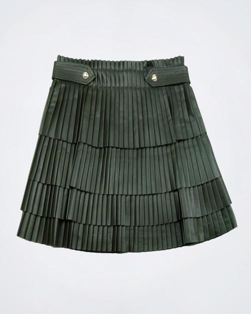 NENETTE Pleated Green Mini Skirt