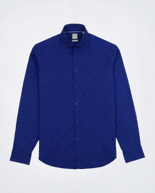 CAMICISSIMA Patterned Blue Cotton Shirt