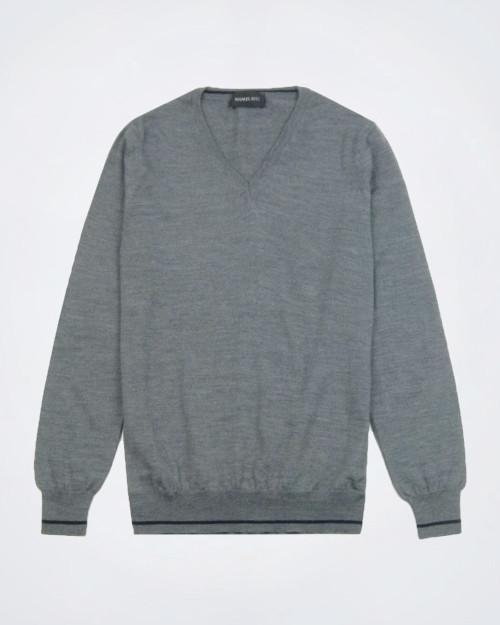MANUEL RITZ Wool Blend V Neck Knit