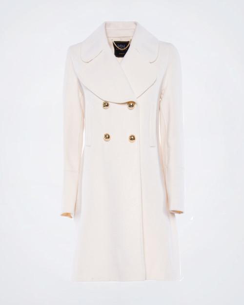 NENETTE Double Breasted Pure Wool Coat