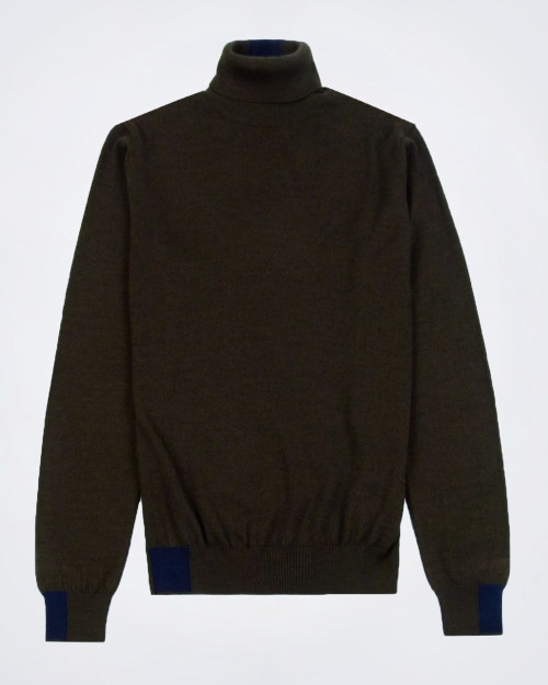 MANUEL RITZ Brown Rollneck Knit