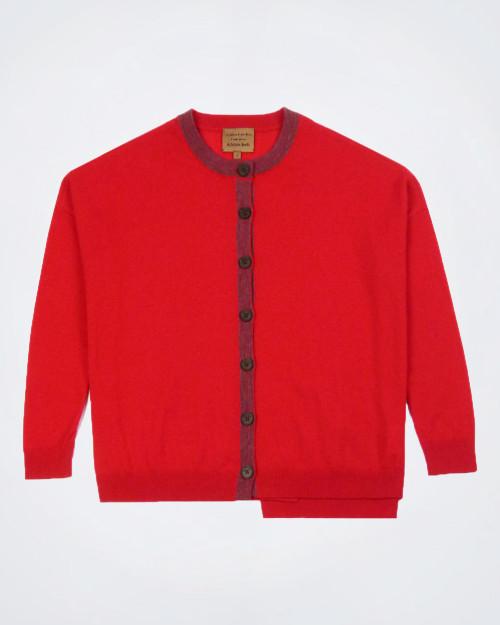ALESSIA SANTI Women's Red Cardigan
