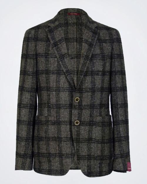 CINQUANTUNO Men's Check Patterned Jacket