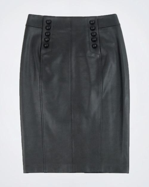 NENETTE Black Faux Leather Skirt